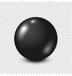 black lottery billiardpool ball snooker vector image