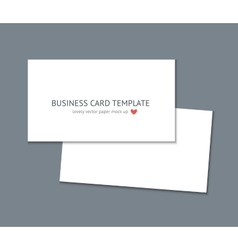 Business card template mock up vector