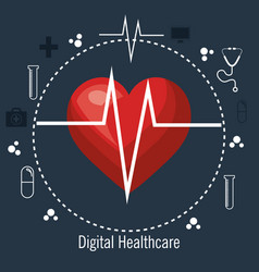 Cardiology medical service isolated vector