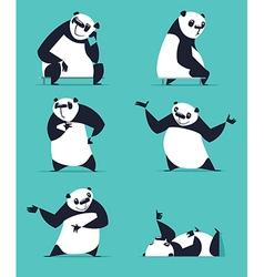 Cartoon Panda Set vector image vector image