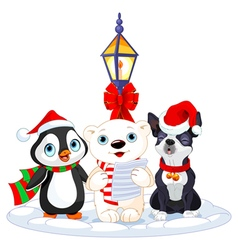 Christmas Carolers vector image