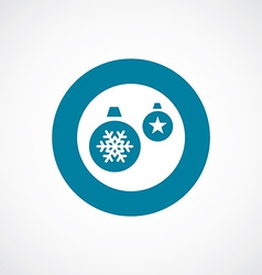 Christmas decorations icon bold blue circle border vector