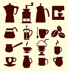 Coffee icons - vector image vector image