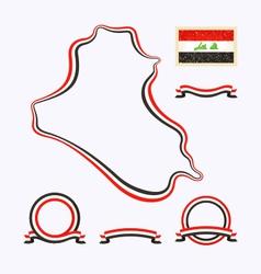 Colors of iraq vector
