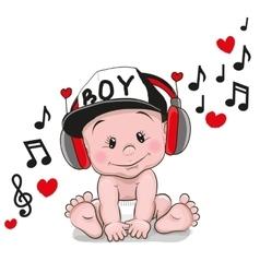 Cute cartoon baby vector