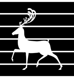 Deer elk silhouette black vector
