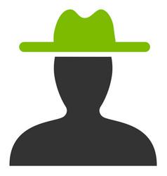 farmer flat icon vector image