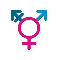 Homosexual family flat icon vector