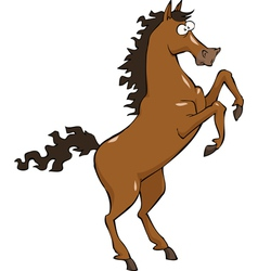 horse on hind legs vector image