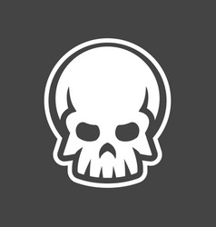 human skull design icon vector image