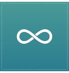 Infinity sign icon vector