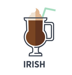 irish isolated on white background cocktail vector image vector image