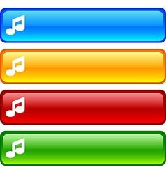 Music buttons vector