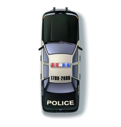 Police Car Top View vector image