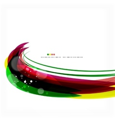 Rainbow bright light air lines background vector image vector image
