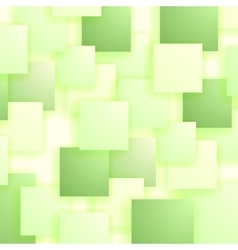 Set of green squares squares pattern vector