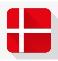 Simple flat icon denmark flag vector