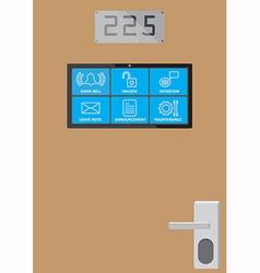 Smart door screen vector