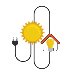 Solar ecology energy icon vector