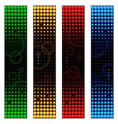 space banners vector image vector image
