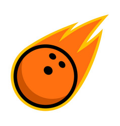 sport ball fire bowling vector image vector image