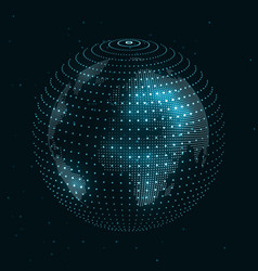technology image of globe vector image
