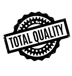 Total quality rubber stamp vector