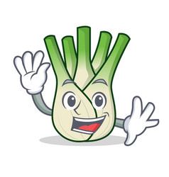 waving fennel character cartoon style vector image