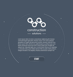web banner in style business minimalism ready vector image vector image