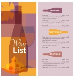 Wine menu list stencil print vector