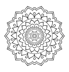 Doodle mandala coloring page vector