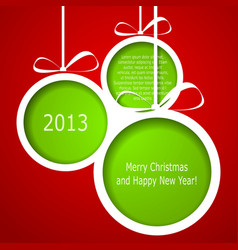 Abstract green christmas balls vector