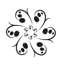 Lily of the valley monochrome icon vector