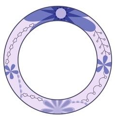 Blue circle symbol of diabetes day vector image