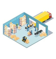 Warehouse isometric composition vector