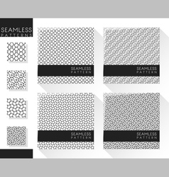 Set of abstract seamless pattern 1 vector