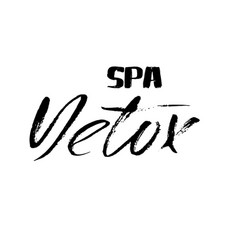 Hand lettered inscription detox spa hand brushed vector