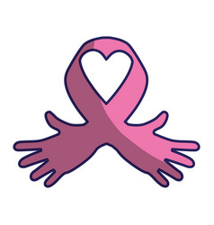 Ribbon cancer symbol vector