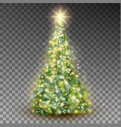 green abstract christmas tree eps 10 vector image