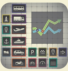 17 infographic elements with graph background vector