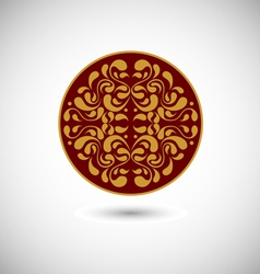 Oriental medallion vector