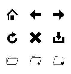 black browser icon set vector image
