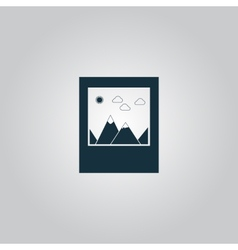 Photo landscape web icon vector