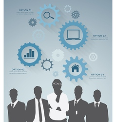 Silhouette businessman vector
