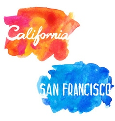 Lettering of san francisco and california vector