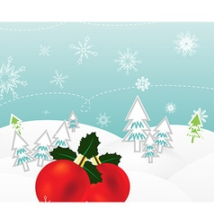 Cute christmas backdrop vector
