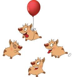 set funny dogs Cartoon vector image