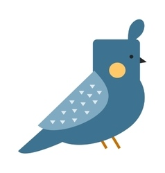 Blue funny canary serinus canaria cute domestic vector
