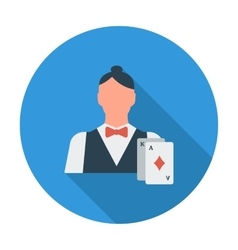 Live dealer flat icon vector