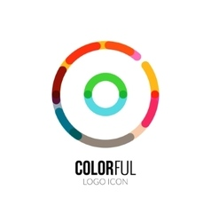 Abstract circle colorful logo design for vector image vector image